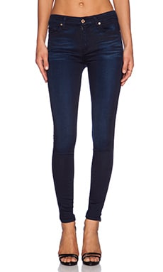 7 For All Mankind The Skinny in Blue Black Sateen