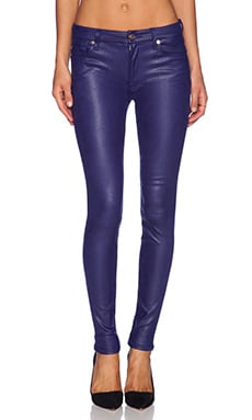 7 For All Mankind Knee Seam Contour Skinny in Capri Blue Crackle
