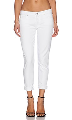 7 For All Mankind Josefina Boyfriend in Clean White