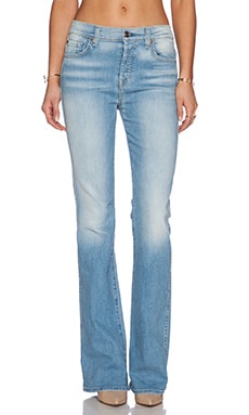 7 For All Mankind High Waisted Vintage Flare in Light Sky