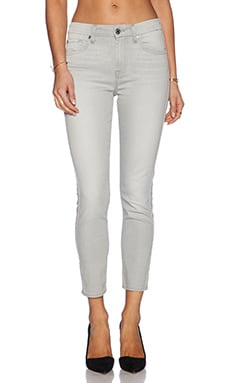 7 For All Mankind Mid Rise Crop Skinny in Spring Grey