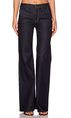 7 For All Mankind High Waisted Trouser in Rich Rinse Runway Dream