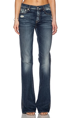 7 For All Mankind High Waisted Vintage Flare in Grinded Vintage Indigo 2