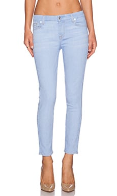 7 For All Mankind Crop Skinny in Bleached Aquamarine