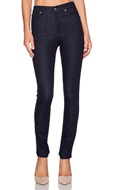 7 For All Mankind High Waisted Skinny in True Rinsed