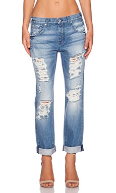 7 For All Mankind Distressed Skinny in Rigid Vintage Indigo 2