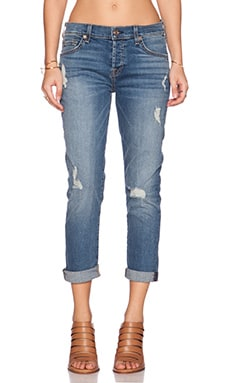 7 For All Mankind Josefina Distressed Boyfriend in Sloan Heritage Med. Light