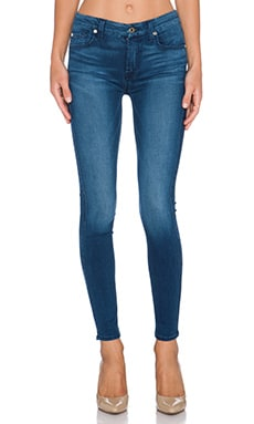 7 For All Mankind Mid Rise Ankle Skinny in Slim Illusion Luxe Med. Heritage