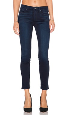 7 For All Mankind The Ankle Skinny in Pristine Blue Black