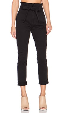 7 For All Mankind Paperbag Waist Pant in Black