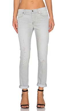 7 For All Mankind Destroy Josefina Boyfriend in Distressed Grey Destroy