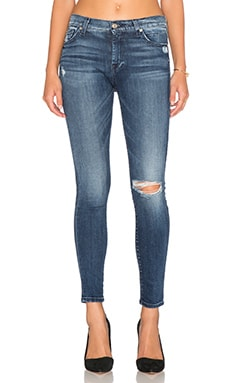 7 For All Mankind The Ankle Skinny in Lake Blue 2