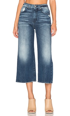 7 For All Mankind Culotte in Ride Lake Blue