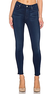7 For All Mankind Slim Illusion High Waist Ankle Skinny in Dark Legacy
