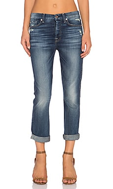 7 For All Mankind Cropped HW Vintage Straight in Icelandic Blue