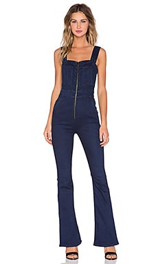 7 For All Mankind Jumpsuit in Dark Rich Vibrant Hue
