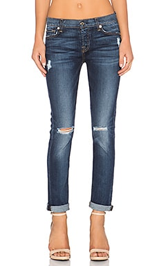 7 For All Mankind Josefina Boyfriend in Marie Vintage Blue 3