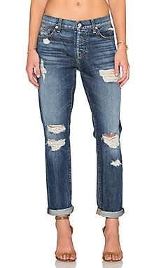7 For All Mankind Josefina Distressed in Rigid Sanded Blue