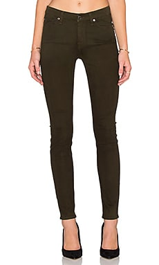 7 For All Mankind Mid Rise Skinny in Hunter Green