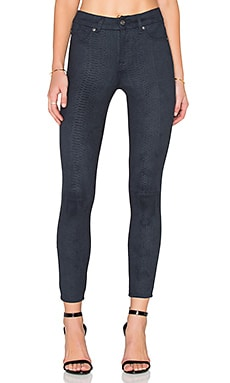 7 For All Mankind High Waist Ankle Skinny in Navy