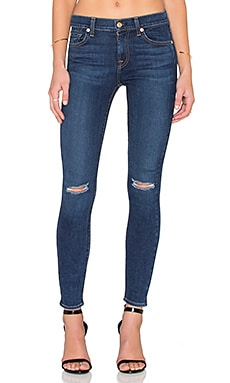 7 For All Mankind Distressed Ankle Skinny in Slim Illusions Stunning Seville