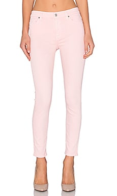 7 For All Mankind The Mid Rise Ankle Skinny in Strawberry