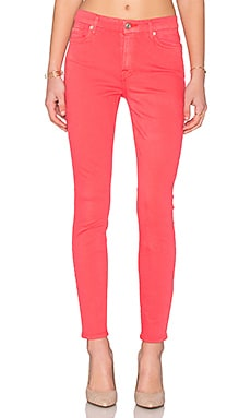 7 For All Mankind The Mid Rise Ankle Skinny in Cherry