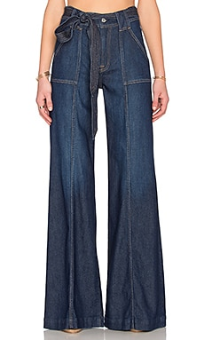 7 For All Mankind Belted Palazzo in Saint Tropez