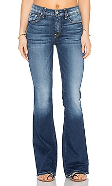 7 For All Mankind High Waist Vintage Bootcut in Bright Indigo Stretch