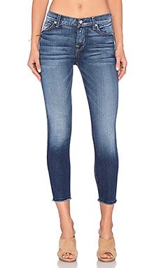 The Ankle Skinny en Bright Indigo Stretch
