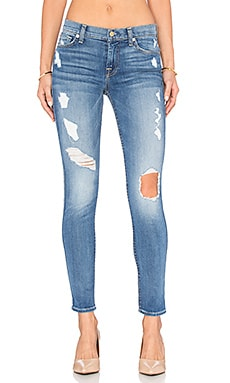7 For All Mankind The Squiggle Destroy Skinny in Stretch Blue Orchid