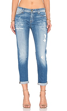 7 For All Mankind Josefina Destroy in Bright Blue Bell