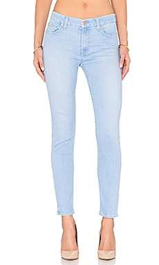7 For All Mankind The Ankle Skinny in Pretty Sky Blue