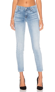 7 For All Mankind The Ankle Skinny in Santorini Light Aqua