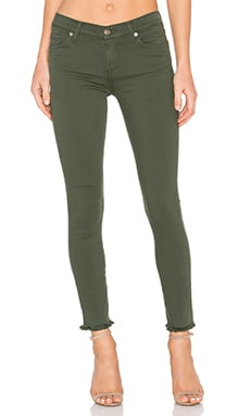 7 For All Mankind The Unfinished Hem Ankle Skinny in Olive