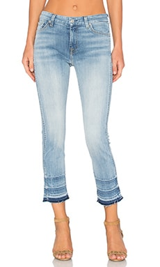 7 For All Mankind Ankle Straight in Santorini Light Aqua