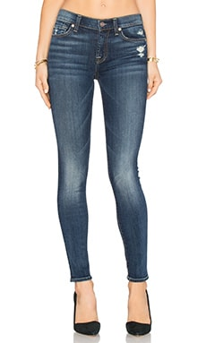 7 For All Mankind The Squiggle Distressed Skinny in Crete Island