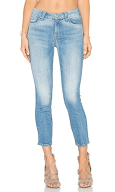 7 For All Mankind Mid Rise Crop Skinny in Aegean Sea