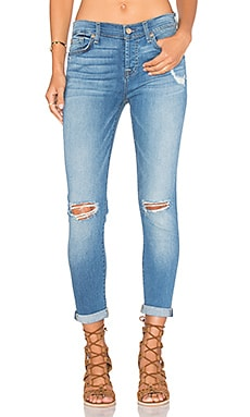 7 For All Mankind Josefina Distressed Boyfriend in Light Laurel 2
