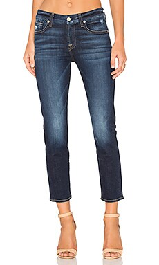 7 For All Mankind Kimmie Crop in Dark Mykonnos