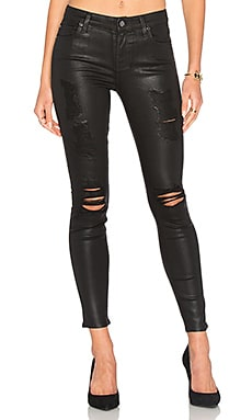 The Ankle Distressed Skinny en Coated Fashion