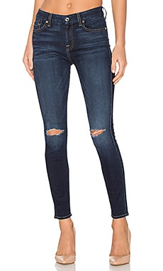 The Knee Slit Ankle Skinny in Dark Canterbury 2