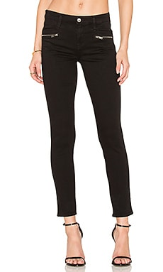 The Zip Front Ankle Skinny en Noir