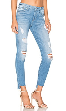 Step Hem Ankle Skinny in Melbourne Sky