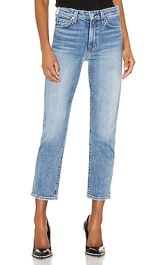 High Waist Cropped Straight 7 For All Mankind $235