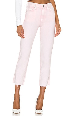 High Waist Cropped Straight 7 For All Mankind $185