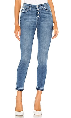 ДЖИНСЫ СКИННИ THE HIGH WAIST 7 For All Mankind $165