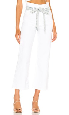 Crop Alexa Paperbag Flare 7 For All Mankind $134
