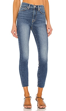 High Waist Ankle Skinny With Cut Hem 7 For All Mankind $111