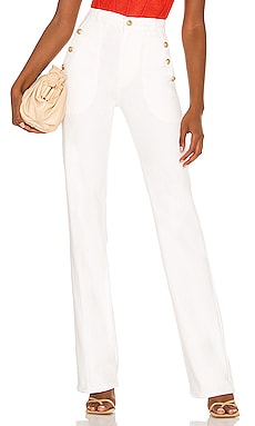 JEAN FLARE WELT & BUTTON 7 For All Mankind $248 BEST SELLER